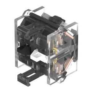 EAO BENELUX - Schakelelement (mechanisch gedwongen) 1V+1M schroefaansluitingen zilverktk.