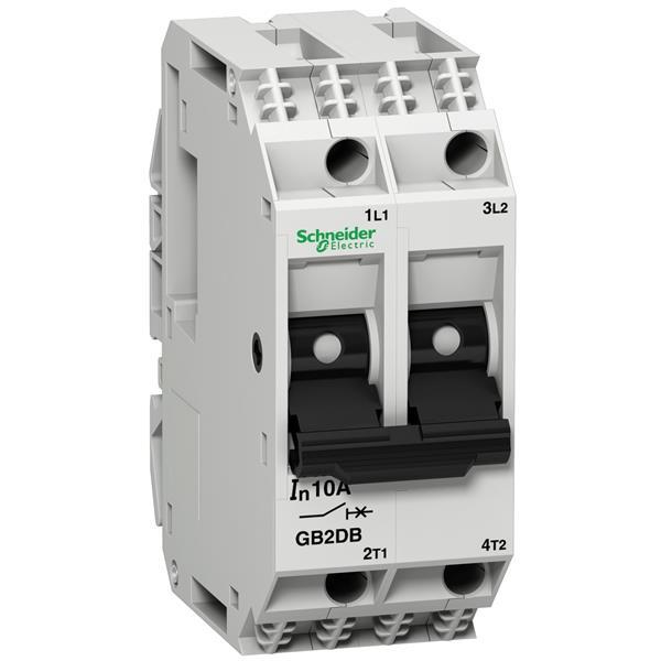 TELEMECANIQUE - Vermogenschakelaar voor stuurkring - GB2-DB - 1A - 2P - 2d