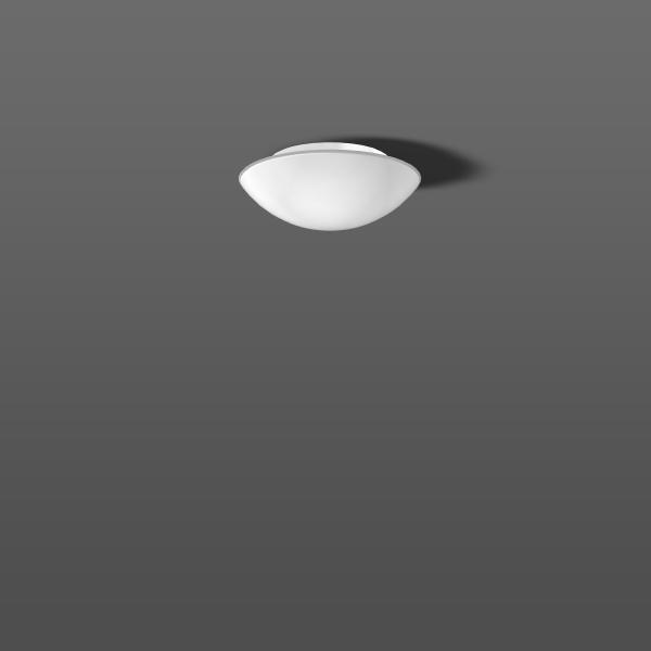 RZB - Flat basic plafond/wandarmatuur 1x75W E27 D:300mm-H:106mm wit+opaalglas