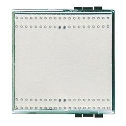 BTICINO - Touche interrupteur/poussoir Light Kristall - 2 modules- éclairable - gris clair