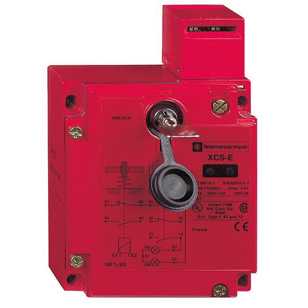 TELEMECANIQUE - Interrupteur de position de sécurité - XCS-E - clé-languette - 2O+1F
