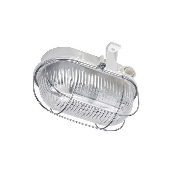 HUPPERTZ - Kelderarmatuur ovaal pvc 60W E27 230V (CE) IP44 grijs