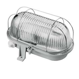 HUPPERTZ - Kelderarmatuur ovaal pvc 100W E27 230V (CE) IP44 grijs