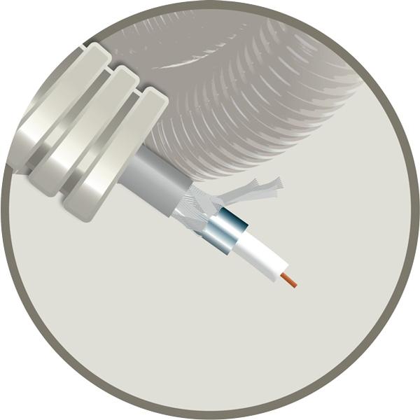CABLEBEL - Elflex tube précâblé 16mm + coax Electrabel T/X130VFAC82CW