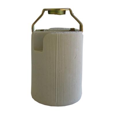 HUPPERTZ - Fitting porselein E14 metalvoet 1/8