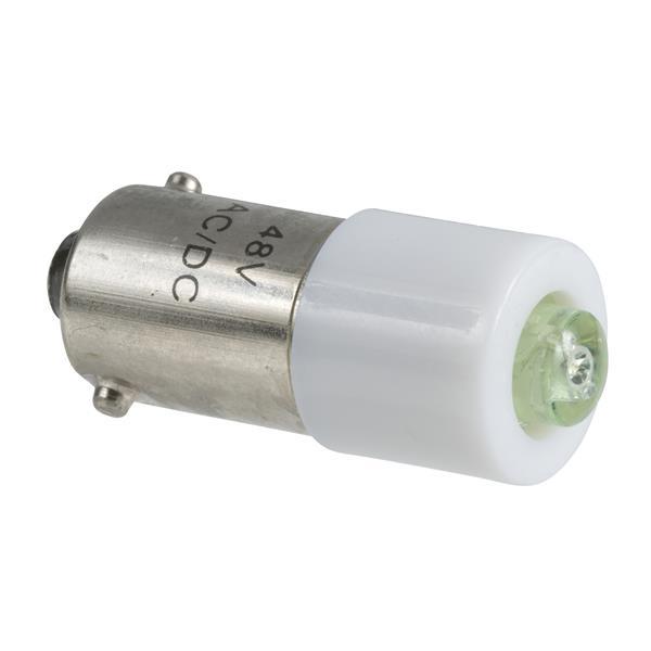 TELEMECANIQUE - Lampe de signalisation DEL - vert - BA 9s - 24V AC DC