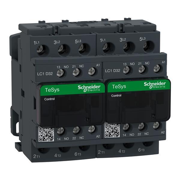 TELEMECANIQUE - Contacteur inverseur 32A AC-3 - 3P 1NO 1NC - 110V AC 50...60Hz