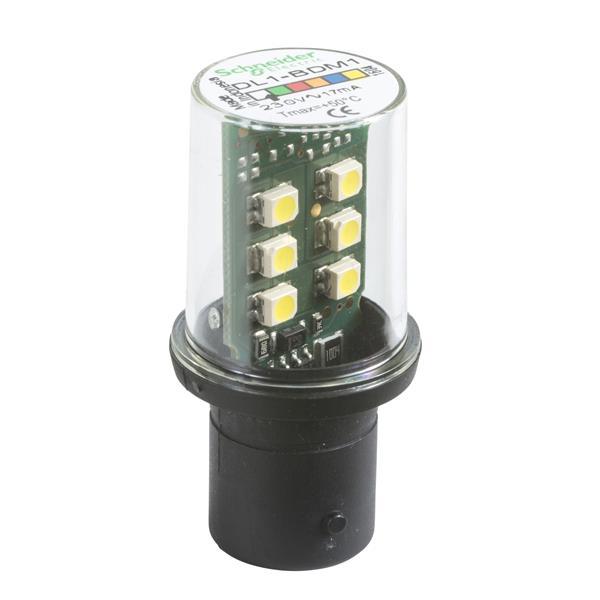 TELEMECANIQUE - lampe de signalisation DEL - blanc - BA 15d - 230 V