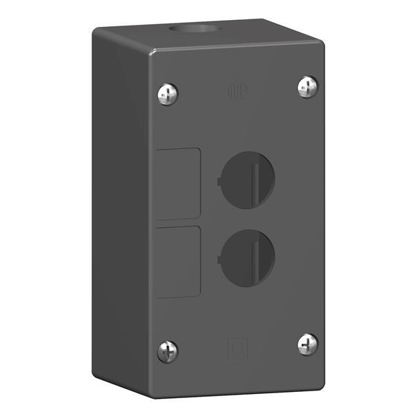 TELEMECANIQUE - lege drukknopkast - XAL-G - kunststof - 2 horizontale boringen