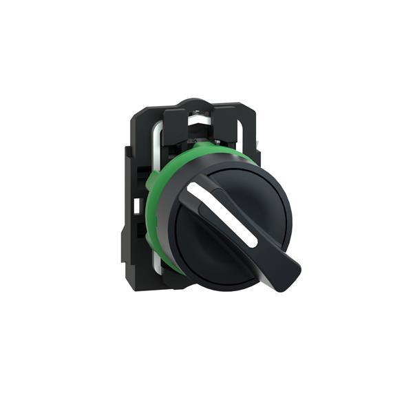 TELEMECANIQUE - keuzeschakelaar zwart Ø 22 - met hendel - 2 standen  - 1 NO
