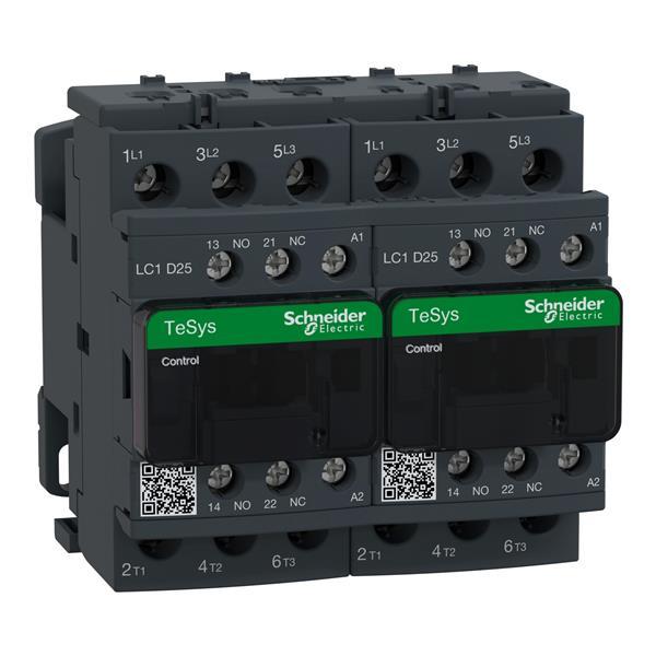 TELEMECANIQUE - Contacteur inverseur 25A AC-3 - 3P 1NO 1NC - 48V AC 50...60Hz