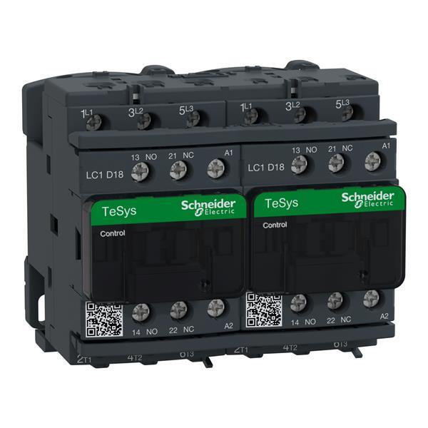 TELEMECANIQUE - Contacteur inverseur 18A AC-3 - 3P 1NO 1NC - 48V AC 50...60Hz