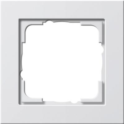 GIRA - Cadre finition 1x E2 blanc satiné