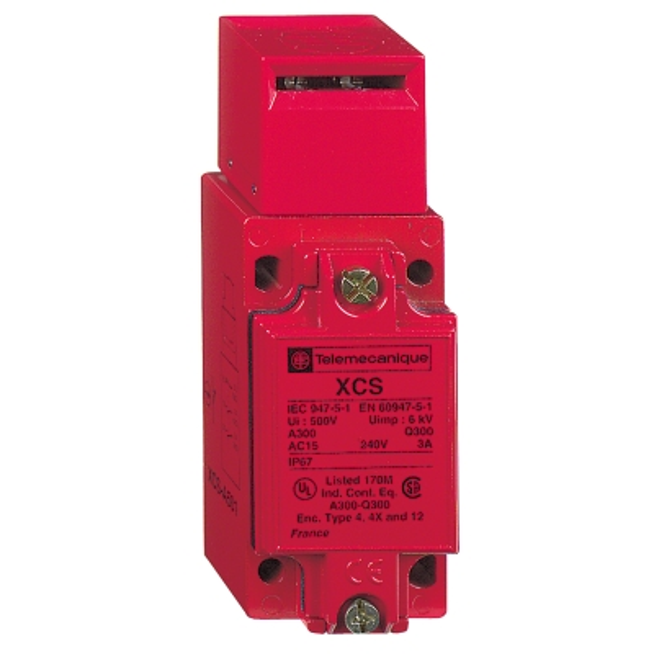 TELEMECANIQUE - Veiligheidsstandschakelaar - XCS-A - bedieningspen - 1NC+2NO