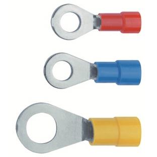 NUSSBAUMER - Soulier de câble 4-6mm² M8 isolé en forme d'anneau isolation PA jaune