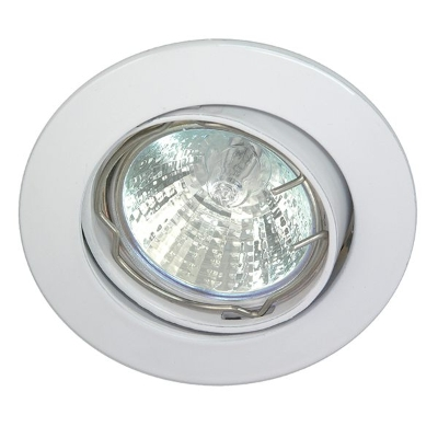 TECHNOLUX - Spot encastré réglable rond 12V 50W MR16 83mm blanc IP20 montage Ø68