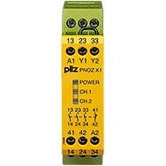 Pilz - Surveillance d'arrêts d'urgence PNOZ X1 24VDC/AC
