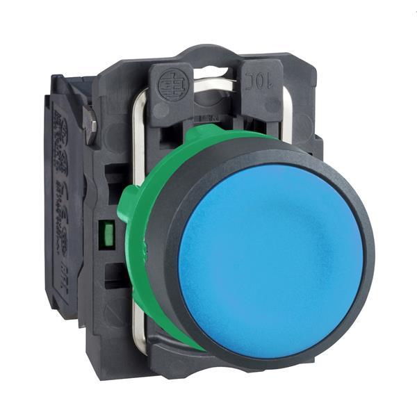 TELEMECANIQUE - bouton-poussoir bleu Ø 22 - à impulsion affleurant - 1F