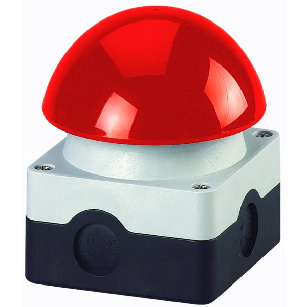 MOELLER - Bouton champignon + boitier, rouge