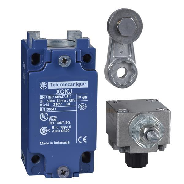 TELEMECANIQUE - interrupteur de position XCK-J - levier à galet - 1 O + 1 F