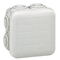 LEGRAND - Boîte carrée Plexo IP 55 étanche - gris - 7 embouts