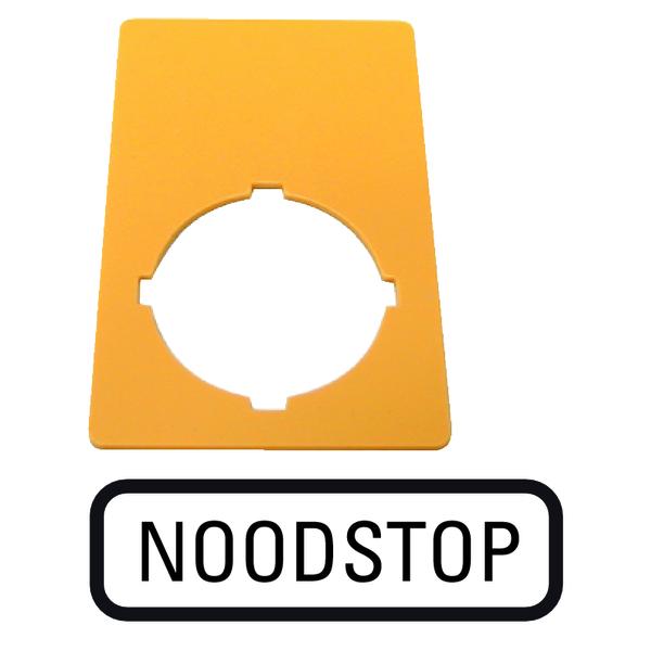 MOELLER - PLAQ ARR URG 33X50MM NOODSTOP