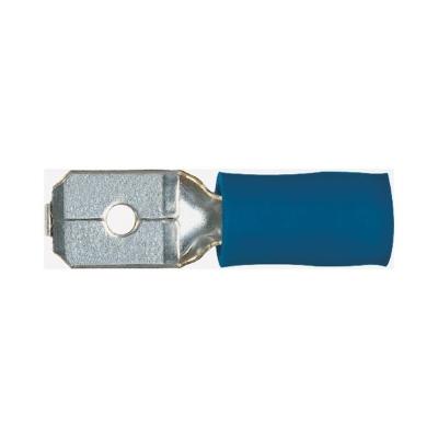 NUSSBAUMER - Vlakstekker 1,5-2,5mm² 0,8-6,3mm blauw geïsoleerd mannelijk