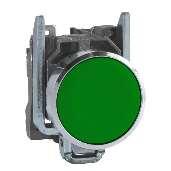 TELEMECANIQUE - Drukknop groen Ø22 - impulscontact verzonken - 1NO