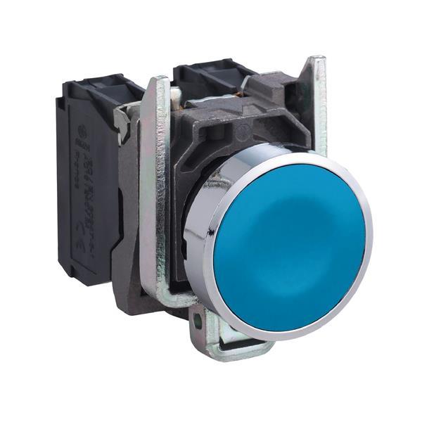 TELEMECANIQUE - Bouton-poussoir bleu Ø22 - à impulsion affleurant - 1F