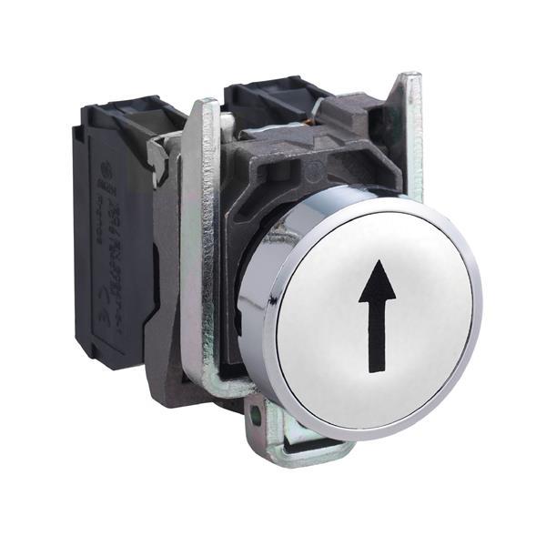 TELEMECANIQUE - Bouton-poussoir blanc Ø22 - à impulsion affleurant - 1NO