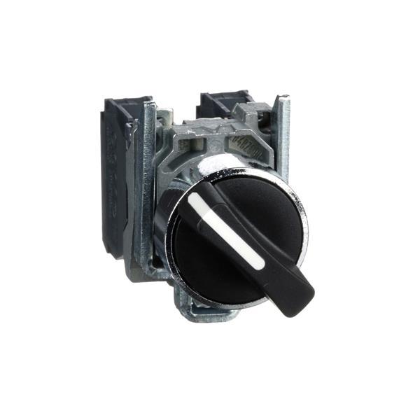 TELEMECANIQUE - Keuzeschakelaar zwart Ø22 - met hendel - 2 standen - 1NC + 1NO