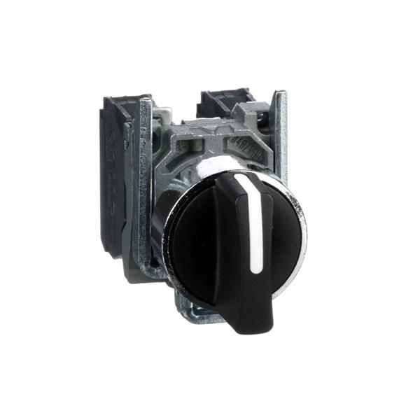 TELEMECANIQUE - Bouton tournant noir Ø22 - à manette - 3 positions - 2F