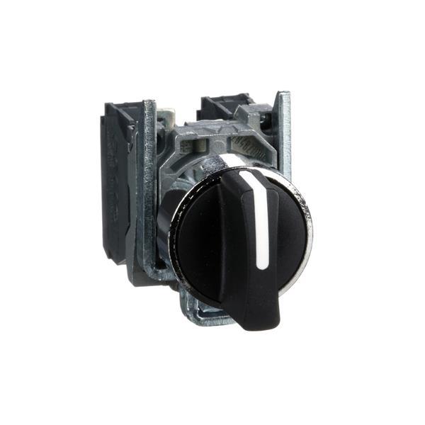 TELEMECANIQUE - Keuzeschakelaar zwart Ø22 - met hendel - 3 standen - 2NO