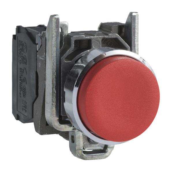 TELEMECANIQUE - Bouton-poussoir rouge Ø22 - à impulsion dépassant - 1O