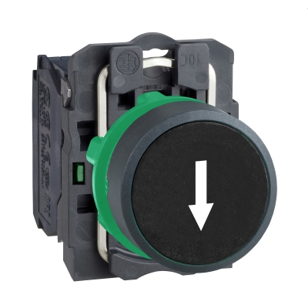 TELEMECANIQUE - bouton-poussoir noir Ø 22 - à impulsion affleurant - 1F