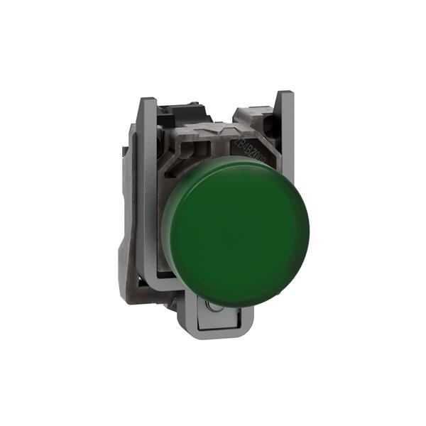 TELEMECANIQUE - Voyant rond Ø22 - IP65 - vert - DEL intégrée - 24V - bornes