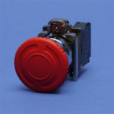 TELEMECANIQUE - Arrêt d'urgence rouge Ø22 - coup-de-poing Ø40 - tourner pour déverrouiller