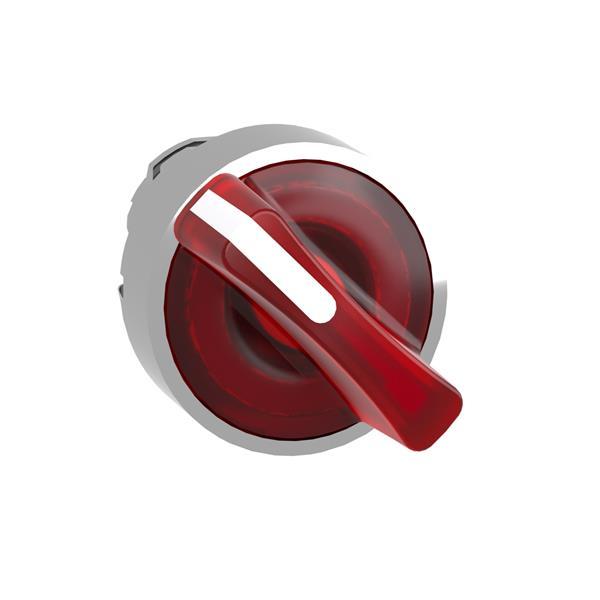 TELEMECANIQUE - Kop voor verlichte keuzeschakelaar - 2 standen - Ø22 - rood - zonder markering