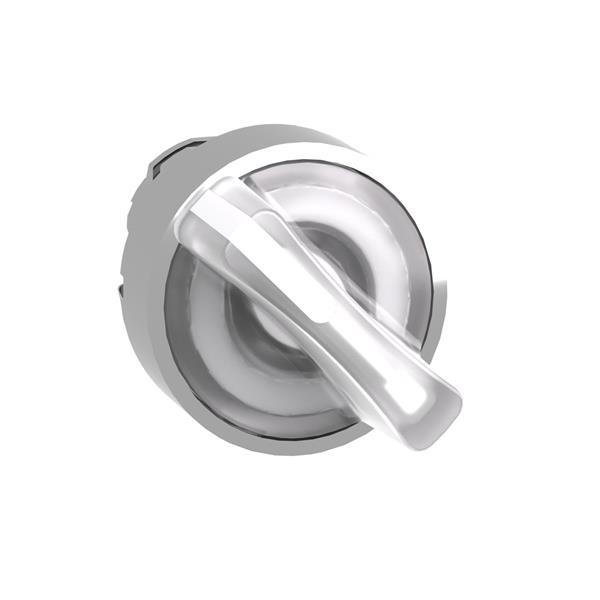 TELEMECANIQUE - Tête pour bouton tournant lumineux - 2 positions - Ø22 - blanc