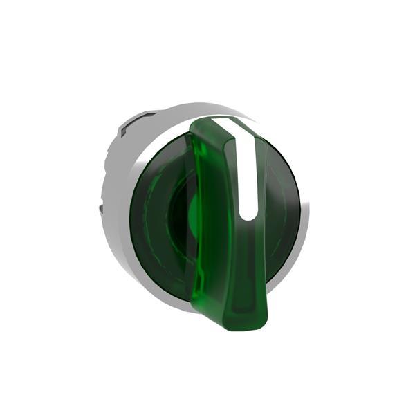 TELEMECANIQUE - Tête pour bouton tournant lumineux - 3 positions - Ø22 - vert