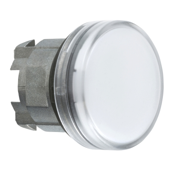 TELEMECANIQUE - Kop voor lampje - Ø22 - rond - glad kapje wit