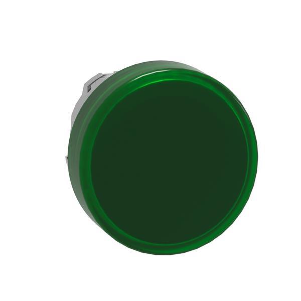 TELEMECANIQUE - Kop voor lampje - Ø22 - rond - glad kapje groen