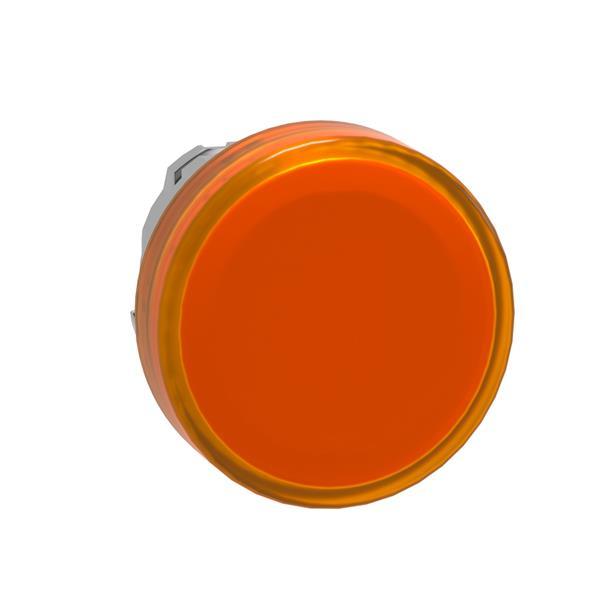 TELEMECANIQUE - Tête pour voyant - Ø22 - rond - cabochon lisse jaune pour LED