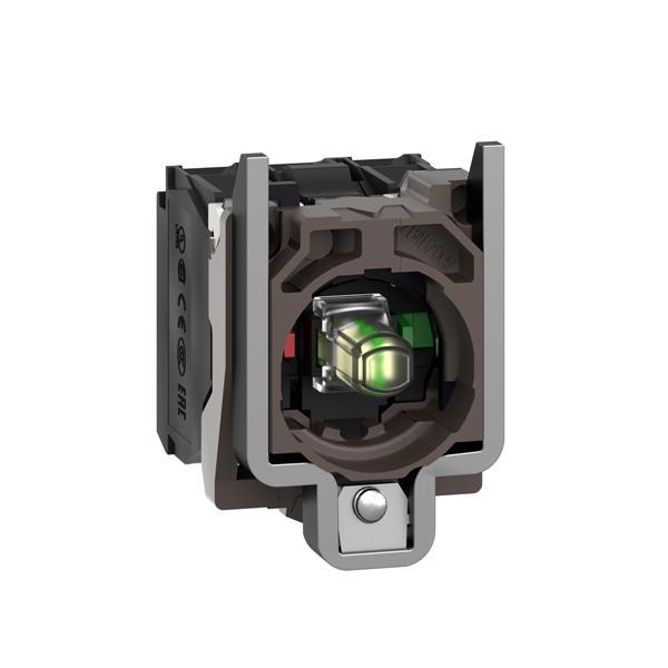 TELEMECANIQUE - Lichaam voor verlichte drukknop - Ø22 - wit ingebouwde LED 1NC + 1NO