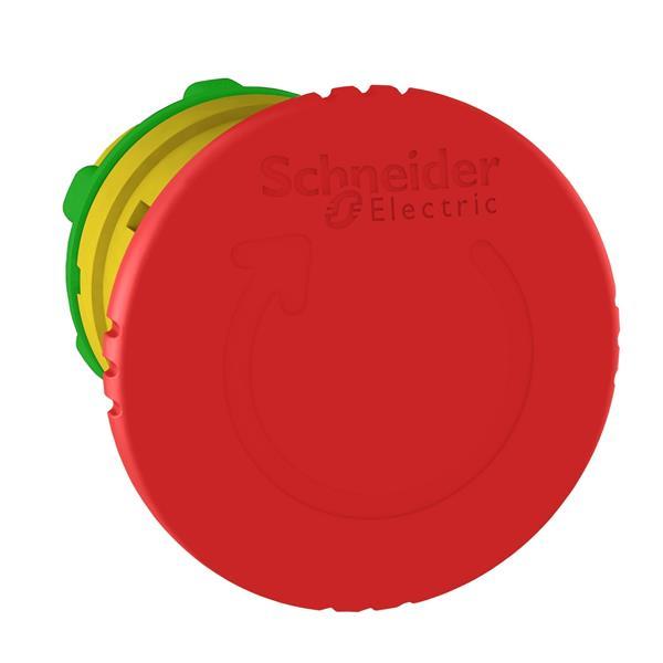 TELEMECANIQUE - kop voor noodstop Ø40 - draaien om te ontgrendelen - Ø22 - rood - zonder mark.
