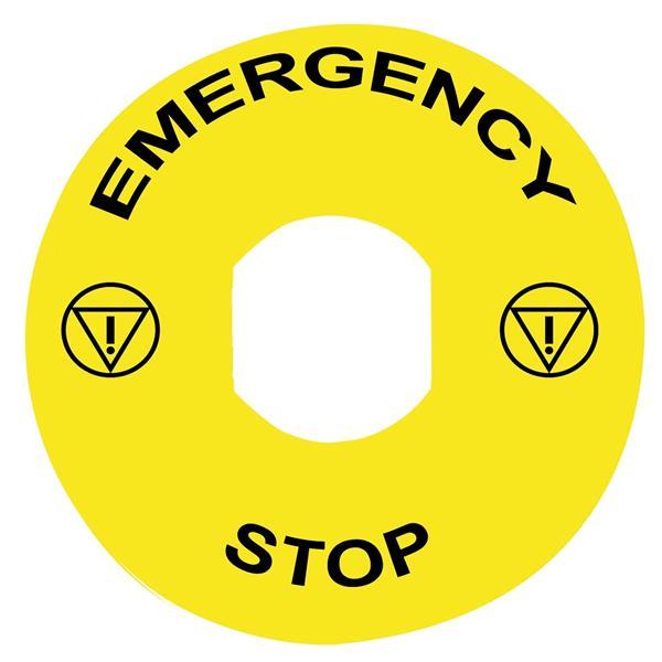 TELEMECANIQUE - Étiquette - Ø22 - Ø90mm - EMERGENCY STOP