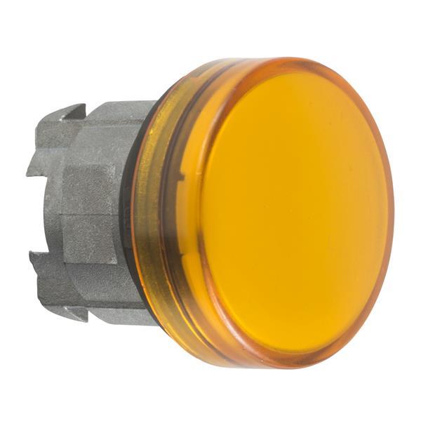 TELEMECANIQUE - Tête pour voyant - Ø22 - rond - cabochon lisse jaune pour ampoule BA9S