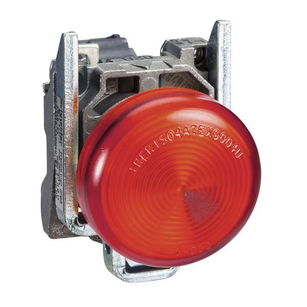 TELEMECANIQUE - Controlelamp rond Ø22 - IP65 - rood - fitting BA 9s - 250V - klemmen