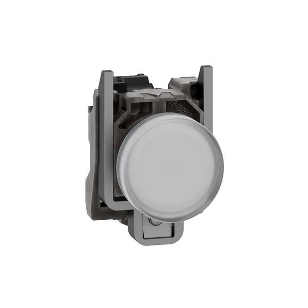 TELEMECANIQUE - Controlelamp rond Ø22 - IP65 - wit - ingebouwde LED - 24V - klemmen