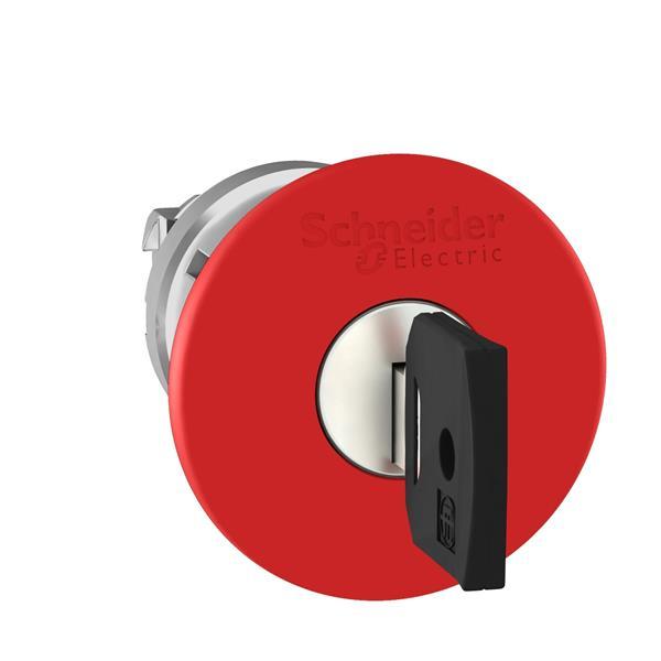 TELEMECANIQUE - Kop voor noodstop Ø40 ontgrendelen met sleutel Ø22 rood zonder markering